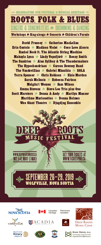 Deep Roots Music Festival Rack Card 2019