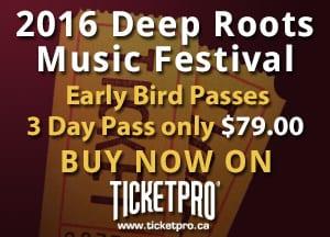 2016 Deep Roots Festival Passes