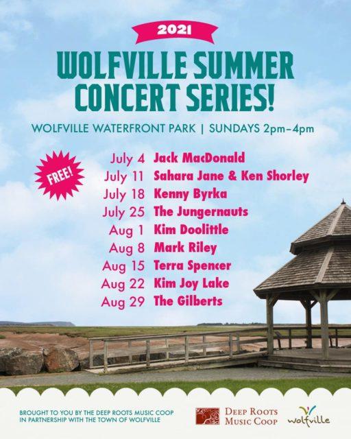 Wolfville Summer Concert Series poster