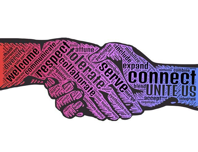 Hands connetcing